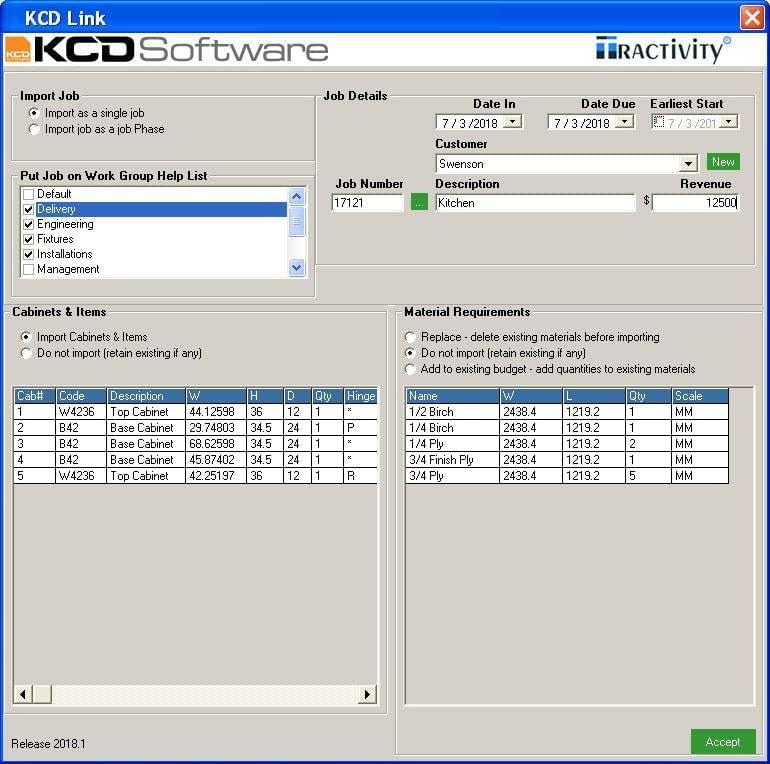 KCD Software Integration